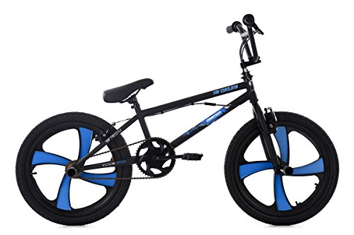 KS Cycling 663B BMX Freestyle Mixte Enfant, Noir, 20