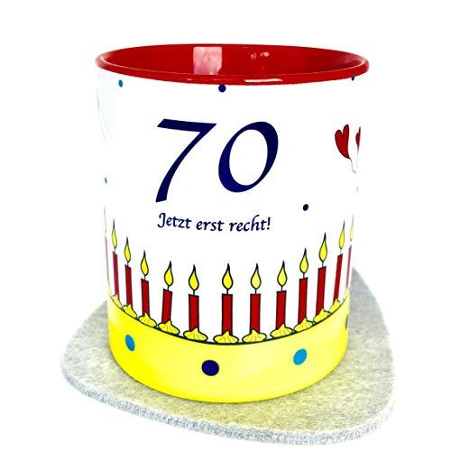 Geschenk-Ideen zum 70. Geburtstag, Tasse 70 Jetzt erst recht!