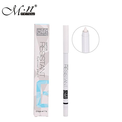 rd À Paupières,BeautyTop 1 PC Eyeliner Blanc Crayon Eye Liner Imperméable À L'eau Longue Yeux Éclairer