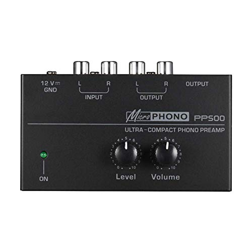 PP500 Mini Phono Turntable Preamp Preamplifier with Level and Volume...
