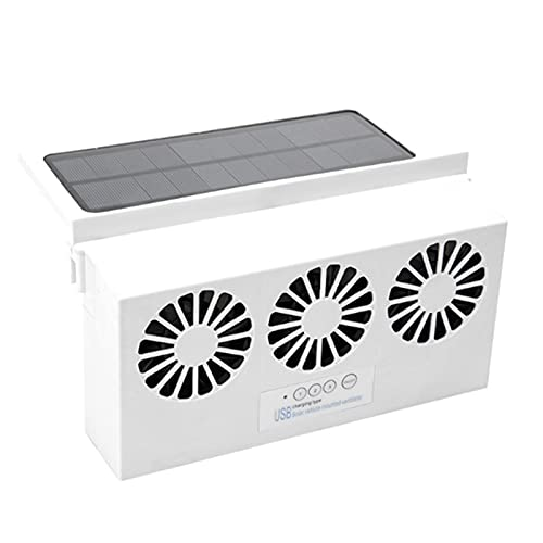 Zcxiong Ventilador de escape con energía solar de alta potencia de alta potencia de la ventanilla de la fuente de alimentación del radiador del radiador del radiador de la ventilación del ventilador d