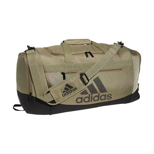 adidas Defender 4 - Bolsa de Viaje (tamaño Mediano), Color Verde y Negro, Talla única