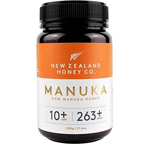 New Zealand Honey Co. Miel de Manuka MGO 263+ / UMF 10+ | Nueva Zelanda Miel 100{e2d32fb7a161efcf06070b7cf209e3bd04197064dbd91b07e0fdf15cd4e868de} Pura y Saludable | 500g