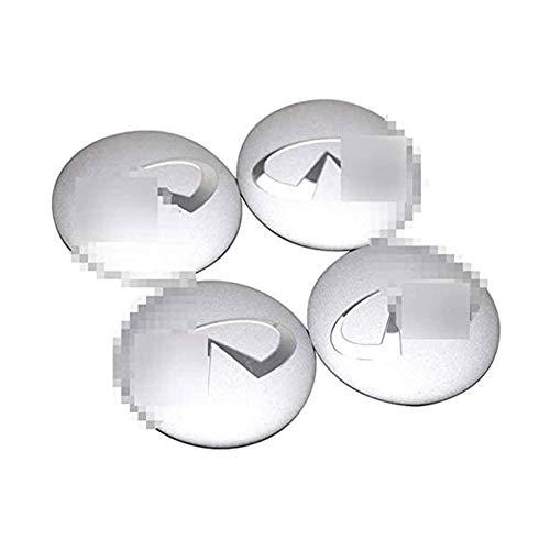JYEBJD 4 Pezzi Cappucci Centrali delle Ruote per Infiniti Q50 Q60 Q70 Qx50 Qx60 Qx70, 56MM, Adesivo Distintivo 3D Cover con Stemma Distintivo Adesivo con Logo Emblema Coprimozzo