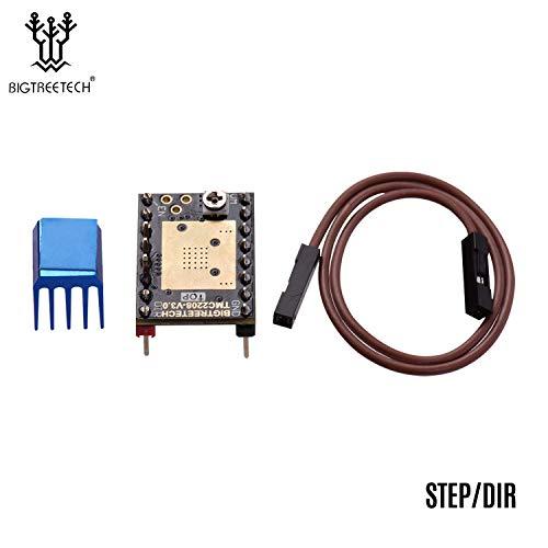 Benkeg Stepper Motor Driver,TMC2208 V3.0 Stepper Motor Driver Stepstick with Heatsink Cable Step/DIR and UART Mode 3D Printer Parts Compatible with SKR V1.3 V1.4 MKS GEN Ramps 1.4 Control Board