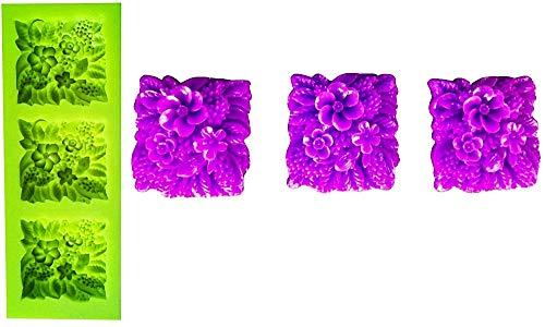 Lovelegis Molde de Silicona de 3 maceteros Cuadrados - Idea de Regalo de cumpleaños - moldes de Silicona - Molde Artesanal