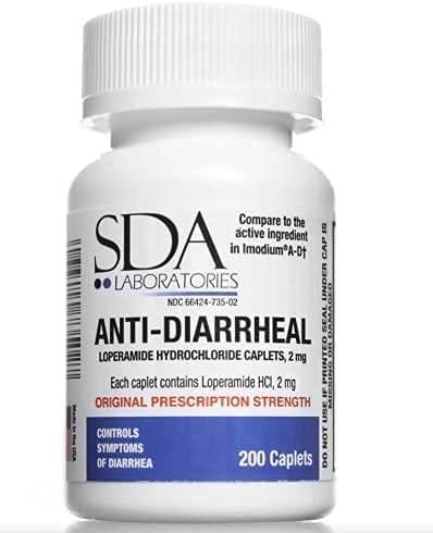 Anti-Diarrheal, Loperamide Hydrochloride (HCl) 200 Tablets 1 Pack