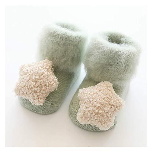 Sencillo Calcetín lindo calcetines de bebé calcetines de muñeca estéreo otoño invierno medio acciones terciopelo espesando cepillo peludo recién nacido calcetines de piso 0-18 meses (FARBE: Amarillo,