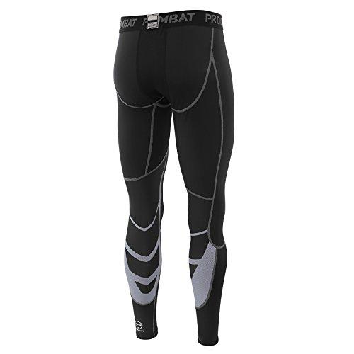 AMZSPORT Herren Fitness Hose Pro Cool Compression Tights Funktionswäsche Pants, S, Schwarz - 2