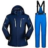 FHJGYU Ski Suit Men Sets Super Warm Thicken Waterproof Windproof Winter Snow Suits...