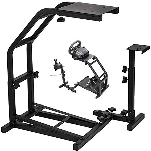 VEVOR Racing Simulator Cockpit Height Adjustable Racing Wheel Stand with fit for Logitech G25, G27, G29, G920 Racing Wheel and Pedals Not Included