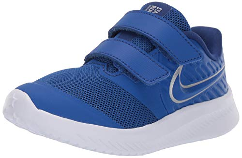 Nike Star Runner 2 (TDV), Sneaker Unisex Bimbo, Blu (Game Royal/Mtlc Silver/Deep Royal Blue 400), 25 EU