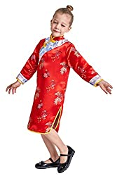 Chinese Qipao Outfit Costume Dress Cheongsam Dress Red