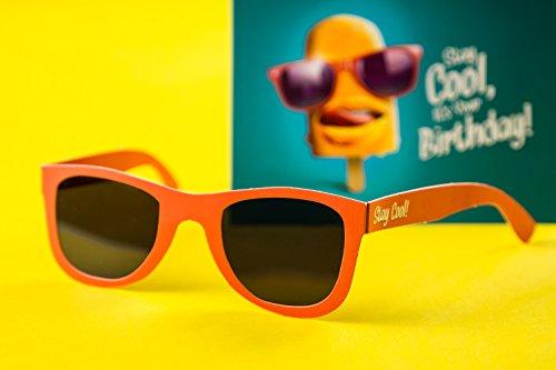 2er Set, Coole und witzige Geburtstagskarte mit Sonnenbrille I Glückwunschkarte I Karte zum Geburtstag, Happy Birthday card, lustig, witzig, cool, 30 40 50 60 SUN02