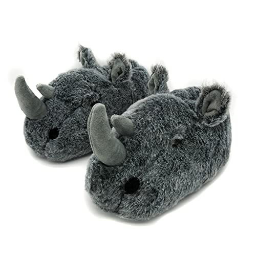 Pantuflas para mujer, diseño de mono, jirafa, araña, para mujeres y hombres, rinoceronte, 39/42 EU