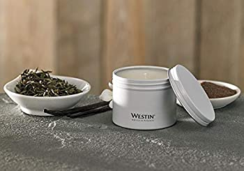 Westin White Tea Candle in a Tin - Hand-Poured Soy Candle in Tin - Signature White Tea Scent - 4 oz - Set of 3