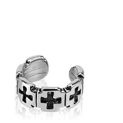 Bold Iron Cross Armreif Muster Design Fake Ohrstulpe Tragus oder Knorpel Non-Piercing