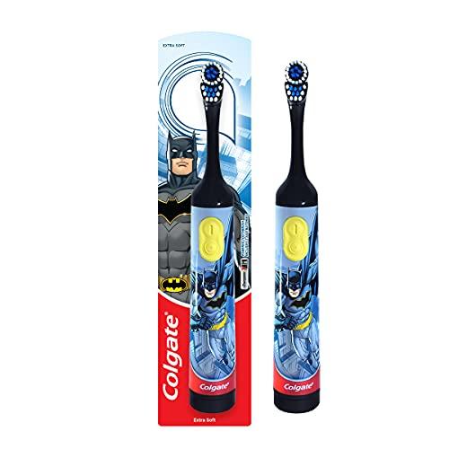 Colgate Kids Batman Battery Powered Electric Toothbrush, Extra Soft Bristles (Age 3+)