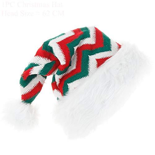shenlanyu Sombrero de Pap Noel Feliz Navidad, gorro de Pap Noel, decoraciones de Navidad para el hogar, Navidad, cena, fiesta, decoracin feliz Ao Nuevo, adornos regalos Jcx-118-02
