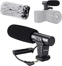 Camera Microphone, Video Microphone Works for Canon Nikon Sony Panasonic Fuji Camera,DSLR Interview Shotgun Mic with Windscreen 3.5mm Jack…
