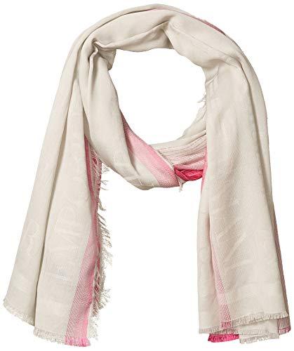 Emporio Armani Damen Ombre Scarf with Logo Detail Modischer Schal, Pop Pink, Einheitsgröße