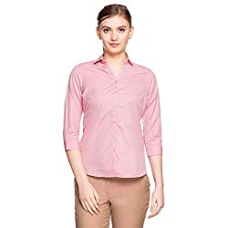 Park Avenue Women Womens Plain Regular Fit Shirt