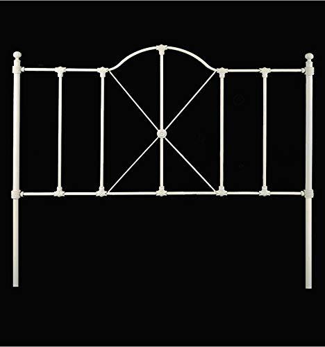 Cabecero de forja Provincia - 6-Negro, Cabecero para colchón de 135 cm