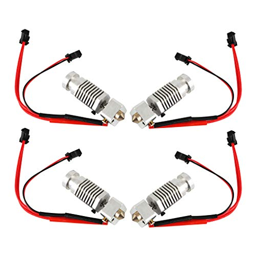#N/A 4Pcs Extruder Hot End Kit Assembly 1.75mm / 0.4mm for Robo R1 Printers