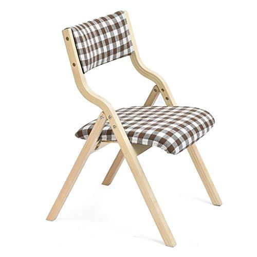GXC, inklapbare stoelen van massief hout, eettafel en stoel met zachte rugleuning voor het huis, geschikt voor volwassenen, geschikt voor kinderen met Nordic multifunctionele functie