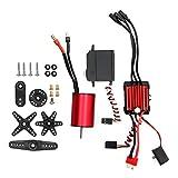 XINMYD 3800KV Motor, 2845 3800KV Motor + 35A ESC + 6KG Servo de Engranaje de plástico