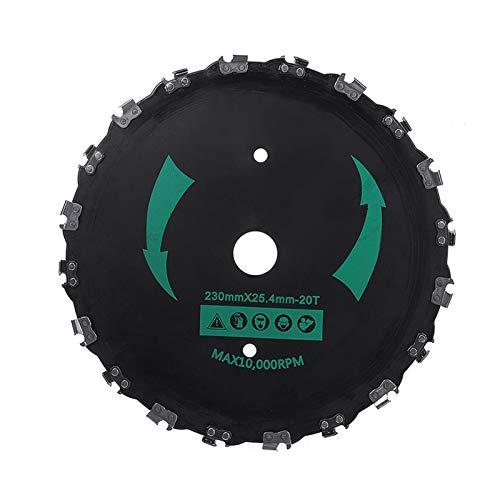 Fangxia Store 1pcs 9' Piezas Herramientas sierra de la cadena del cepillo de dientes del cortador de hierba de la hoja de servicio pesado for el gas eléctrico del condensador de ajuste de potencia Jar