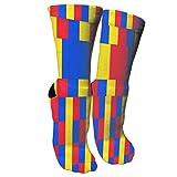 Bosbweo El equipo de la bandera de Rumania calza los calcetines elegantes de la novedad convenientes para el senderismo deportivo