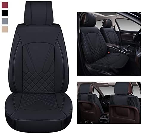 BaoLL Leather Car Seat Covers Automotive Seat Covers with Faux Waterproof Leather Front Pair product image