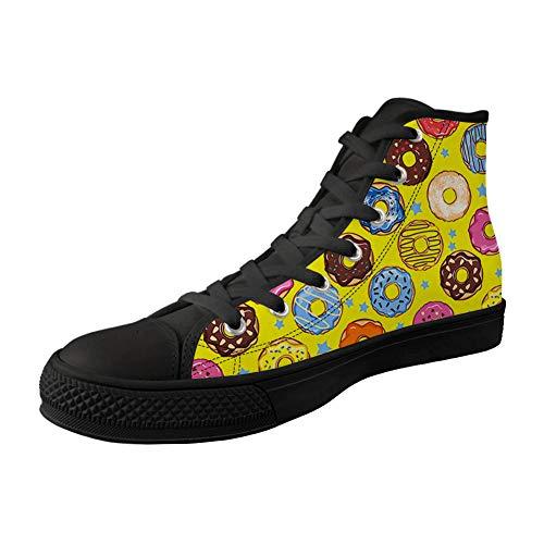 MODEGA bunter Druck hohe Schuhe Mädchen Schnürsenkel bunter Druck Segeltuchschuh Crosstrainer Frauenschuhe Bunte Druck Sport
