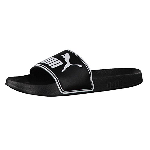 PUMA Unisex Adult Leadcat Chanclas, Black-White, 39 EU