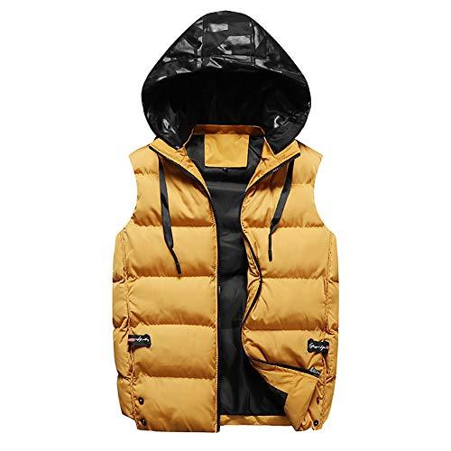 HQEFC Heren Down Puffer Gilet Vest Body Warmer Waistcoat Gewatteerde Jas Bovenwerk Verpakbare Winter Ultralight Gilets met Rits Zakken Grote Maat