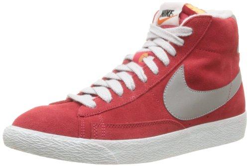 Nike, Blazer Mid PRM VNTG Suede, Sneaker, Uomo, Rosso (DSTNC Red/RFLCT SLVR-PR PLTNM), 43