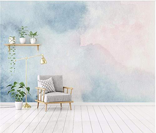 Papel Pintado Acuarela Azul Abstracto Nórdico Fotomural 3D Mural Pared Moderno Wallpaper