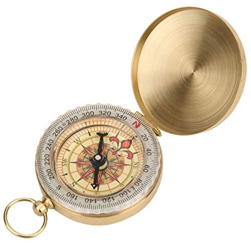 Durable Robusto Buena estabilidad Ligero Compacto Portátil Portátil para exteriores Reloj Brújula Portátil Vintage Retro Brújula para actividades al aire libre, paseos(Pocket watch compass)
