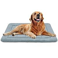 Hero Dog ペットマット 犬マット ペットベッド 防寒 大型犬 冬 犬ベッド クッション 暖かい 掃除しやすい 滑り止め 洗える 通年使える(グレーグリーン L)