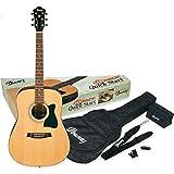 Ibanez V50NJP-NT Acoustic Guitar Pre Pack, Dreadnought, Natural High Gloss.(NT)
