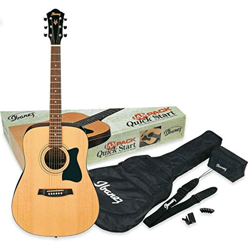 Ibanez V50NJP-NT Acoustic Guitar Pre Pack, Dreadnought, Natural High Gloss.(NT)