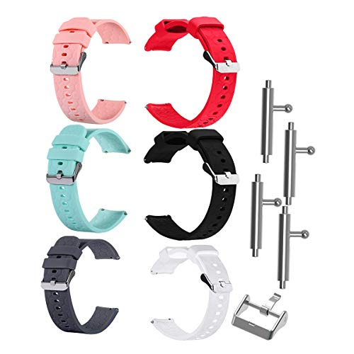 TenCloud 6-Pack Bands Compatible with Umidigi Uwatch 3 Band Replacement Flexible Soft Silicone Strap Sport Wristband Accessory for Umidigi Uwatch 3 Smartwatch