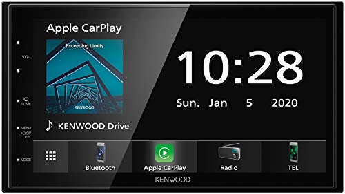 Kenwood DMX5020BTS 17,3 cm WVGA Digital Media Moniceiver mit UKW RDS-Tuner, CarPlay, Android Auto, Android USB-Mirroring, Bluetooth, kapazitivem Touchpanel und DSP