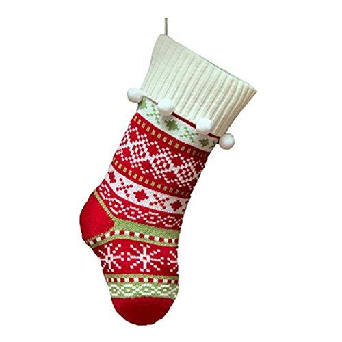 DUO ER Árbol de Navidad de Navidad Medias de Navidad Medias Jacquard calcetín Caramelo Bolsa de Regalo Ornamento Colgante Colgante del calcetín for la celebración de días Festivos (Color : 1)