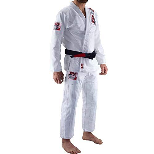 Bõa Superando Blanco BJJ Gi - Brazilian Jiu Jitsu Kimono para Hombre (Blanco, A3)