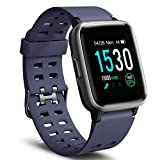 Letsfit Smart Watch, Fitness Tracker with Heart Rate Monitor, Activity Tracker with 1.3' Touch Screen, IP68 Waterproof Step Counter, Sleep Monitor, Pedometer Smartwatch for Women Men