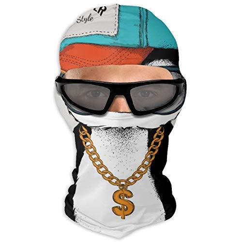 N/A Full Face Masker Pinguïns In Hip Hop Hoeden Hood Zonnebrandmasker Dubbele Laag Koud Voor Mannen En Vrouwen
