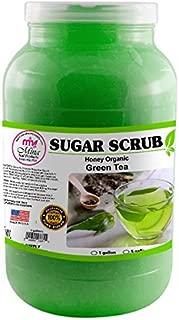 Mina Organic Sugar Scrub, Green Tea (1 Gallon) -Ultra Hydrating & Exfoliating Body, Foot & Facial Scrub for Nourishing Essential Body Care, Professional Spa Supply