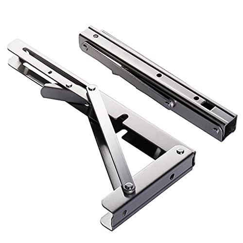 2 piezas de soporte de estante montado en la pared, soportes en forma de L de 90 grados Soporte de metal de acero inoxidable Soporte de ángulo de junta Estante Soporte de estante de esquina de servi